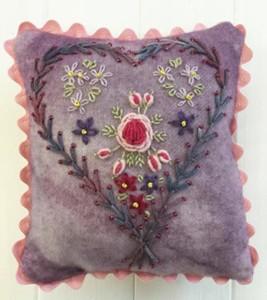 Floral Heart Mini cushion