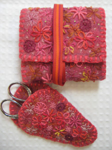 Floral Needleroll and Scissor keep